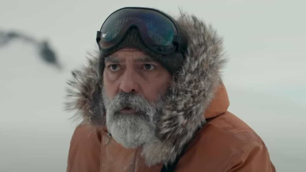 George Clooney in the snow