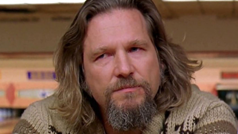 The Dude drinks at bowling alley