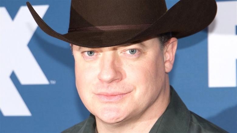 Brendan Fraser wearing a cowboy hat
