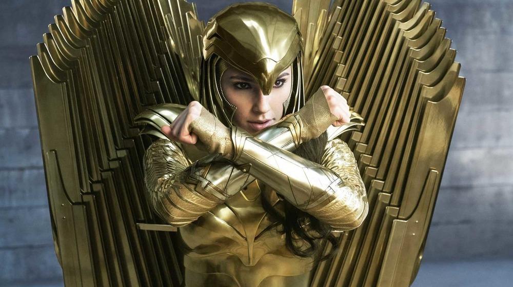 Wonder Woman in golden armor