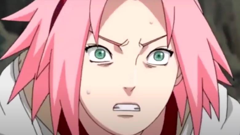 Sakura Haruno appearing worried