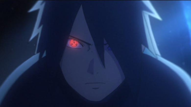 Sasuke using sharingan