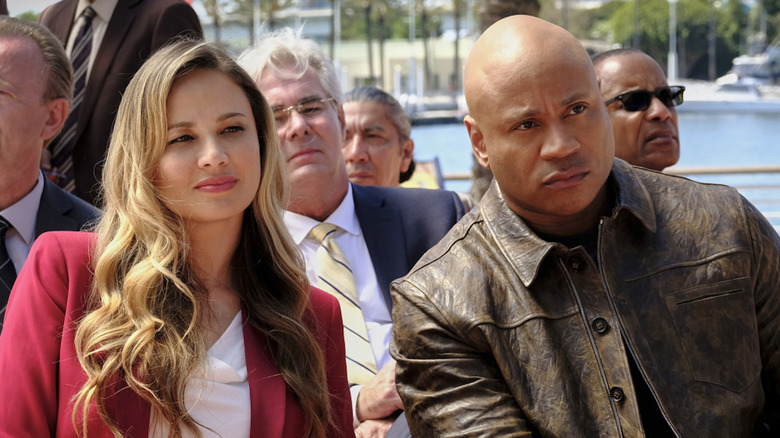 Moon Bloodgood and LL Cool J as Katherine and Sam in NCIS: Los Angeles