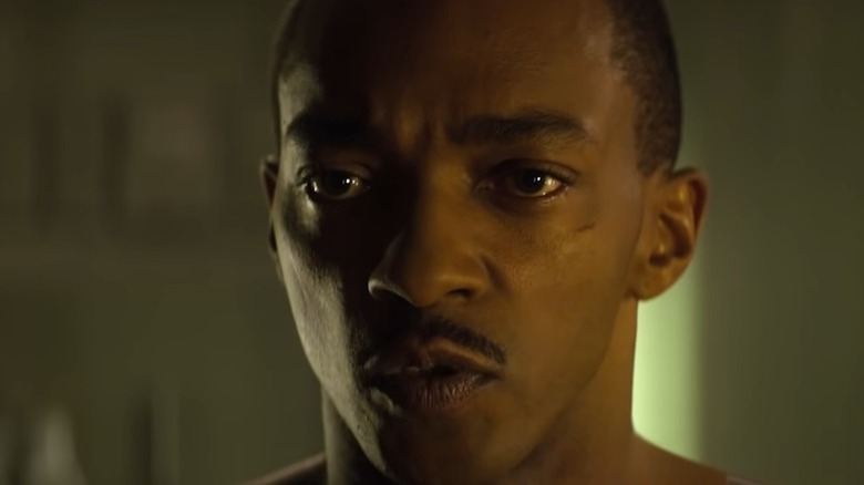 Anthony Mackie Gives Orders