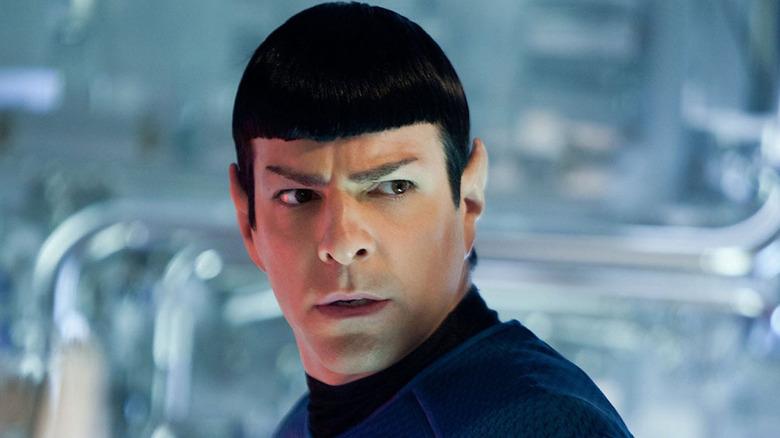 Spock looking sideways