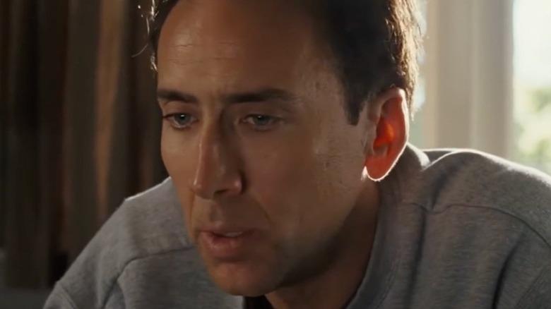 Nicolas Cage looking sullen