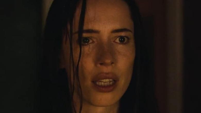 Rebecca Hall as Beth looking shocked