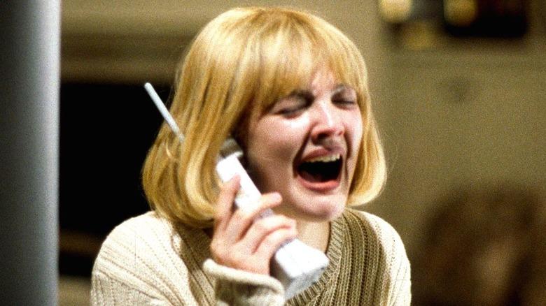 """Drew Barrymore screaming in """"Scream"""""""