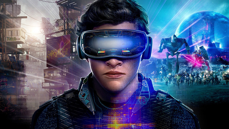 Parzival wearing virtual reality glasses