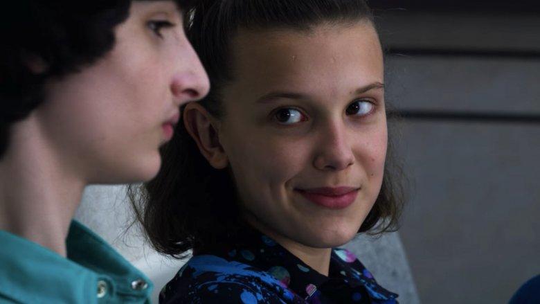 Millie Bobby Brown and Finn Wolfhard on Stranger Things season 3 episode 5