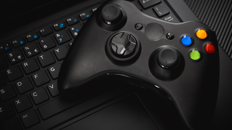 Controller on laptop