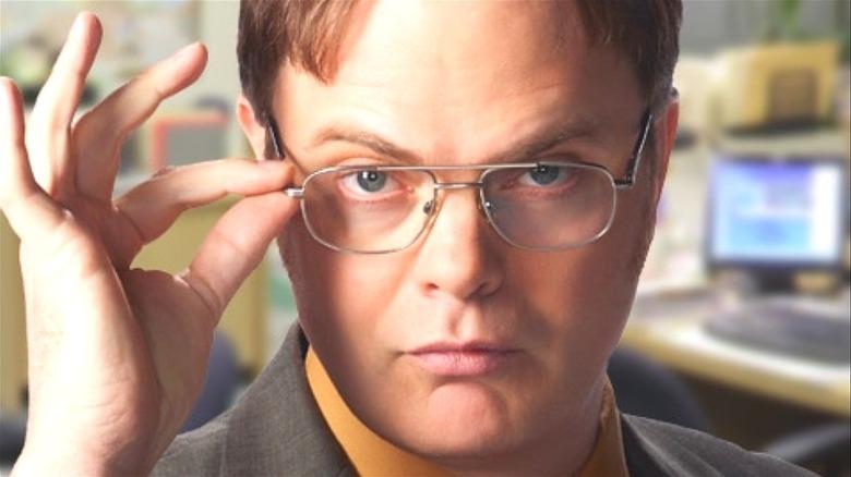 Dwight Schrute in glasses