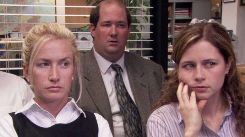 Angela Kinsey, Brian Baumgartner, and Jenna Fischer on The Office