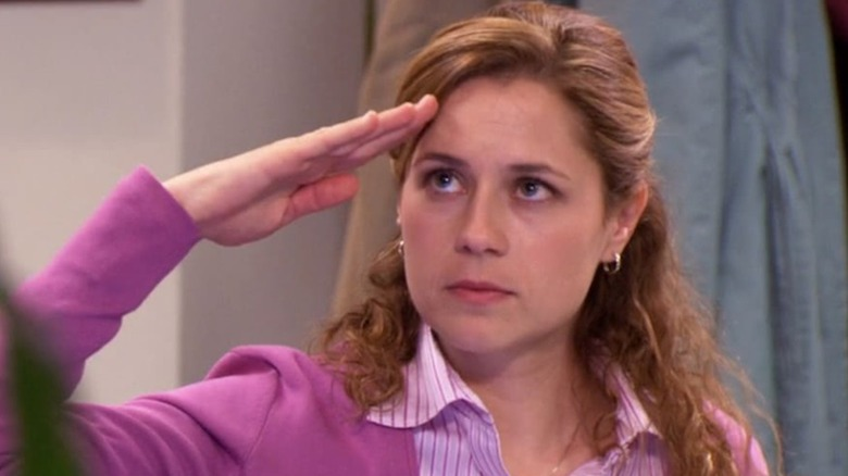 Jim and Pam in The Office