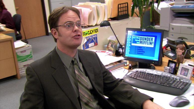 Dwight Schrute working