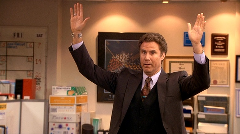 Will Ferrell holds his hands up