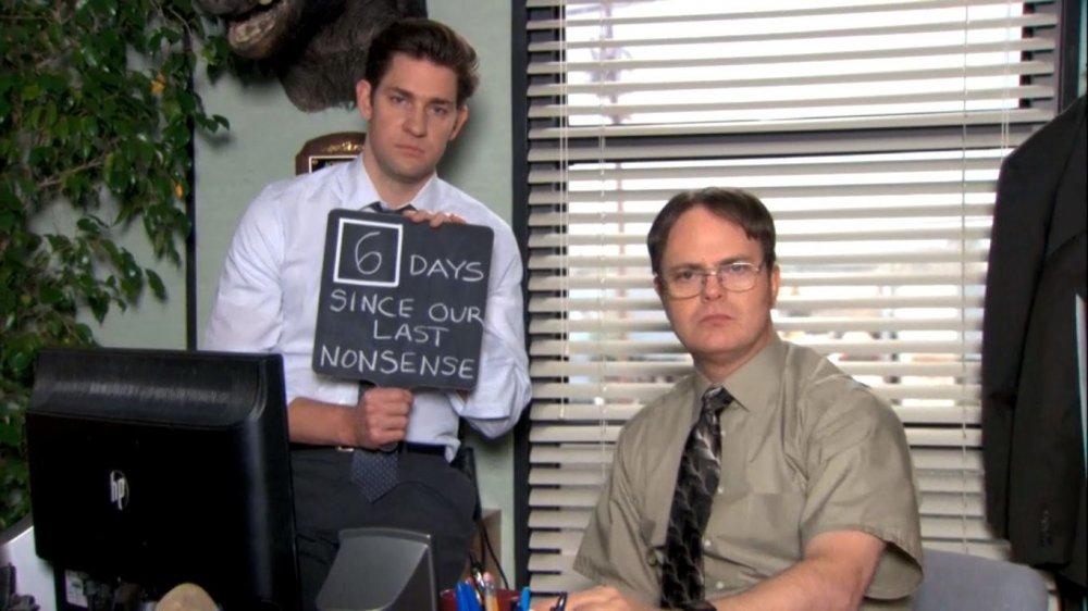 John Krasinski and Rainn Wilson on The Office
