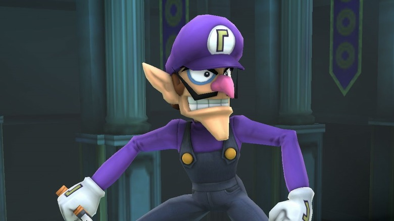 Waluigi in Super Smash Bros