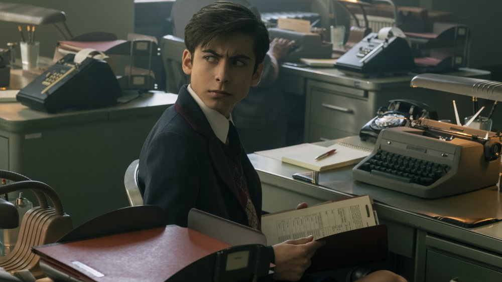 Aidan Gallagher as Number Five on The Umbrella Academy