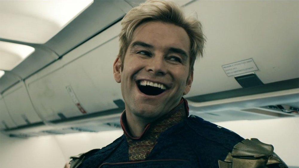 Antony Starr's Homelander lets a plane go down on The Boys