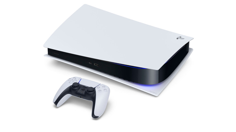PS5 with controller