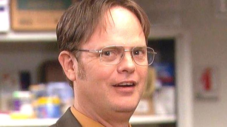 Dwight Schrute talking