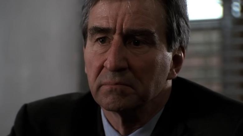 Jack McCoy interrogating a suspect