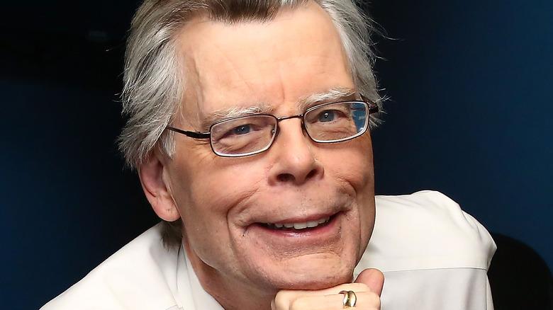 Stephen King smiling