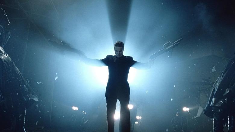 Christian Bale as the renegade Grammaton Cleric John Preston in Equilibrium