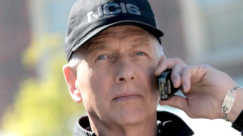 Gibbs on the phone