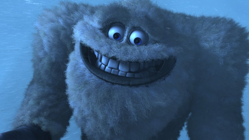 The Abominable Snowman grinning