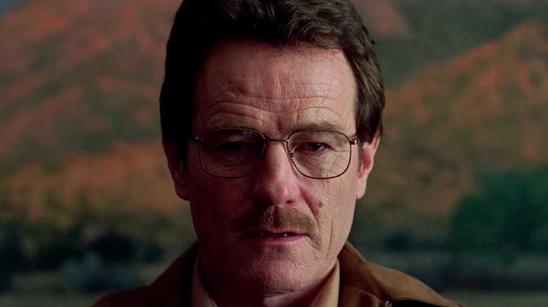 Walter White in front of painting on Breaking Bad