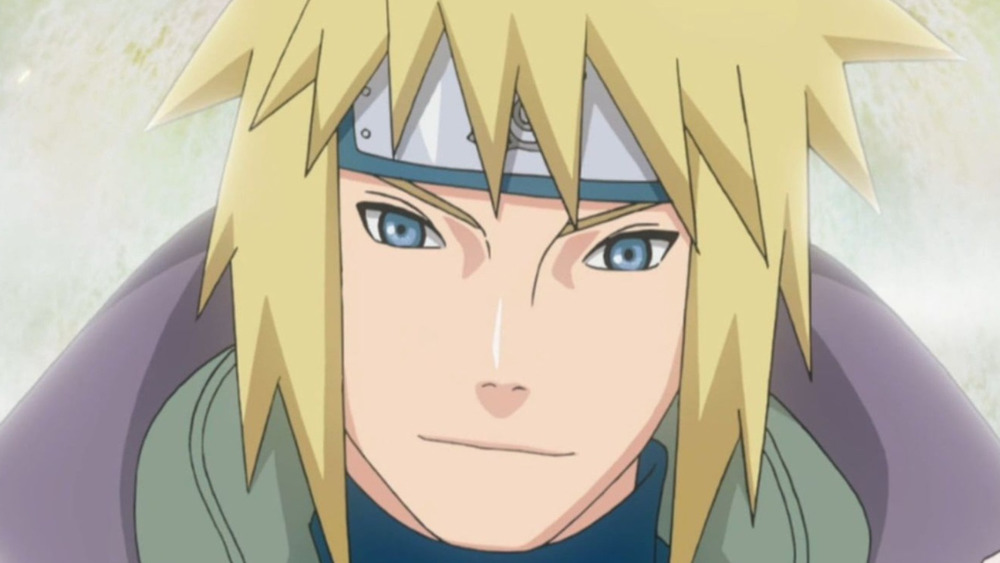Minato with a smile