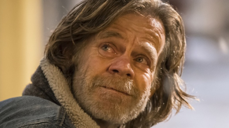 William H. Macy as Frank Gallagher in close-up