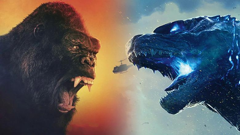 Godzilla and Kong, at odds