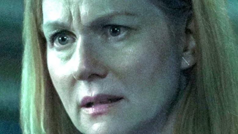 "Close-up of Laura Linney as Wendy Byrde in the Netflix series ""Ozark."