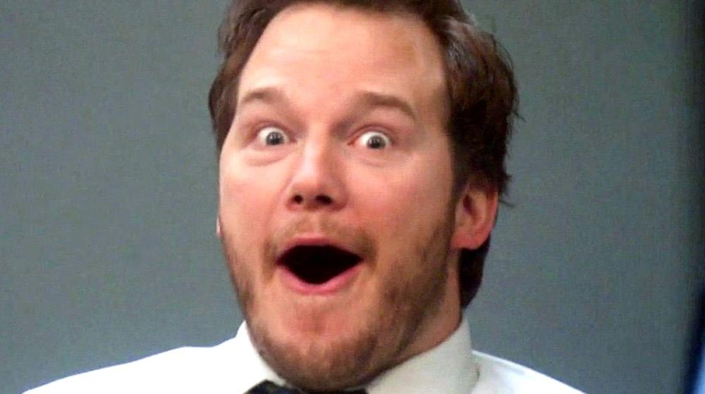 Chris Pratt Andy Dwyer laughing