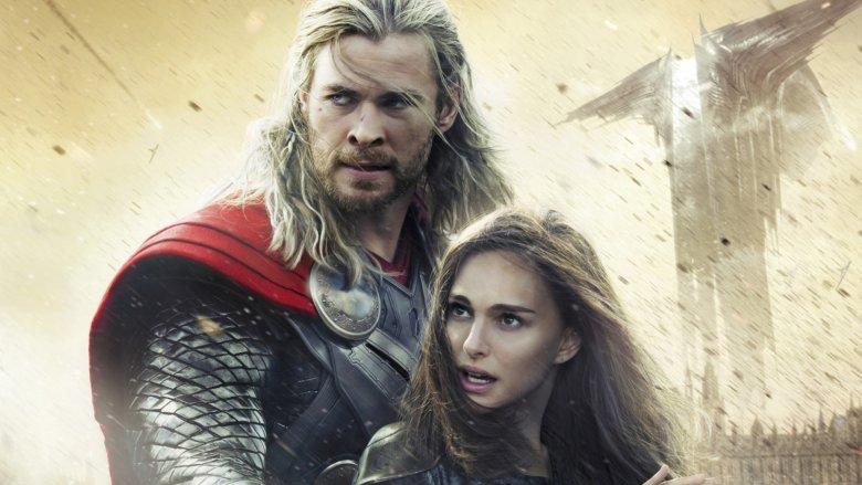 Natalie Portman Chris Hemsworth Thor and Jane Foster