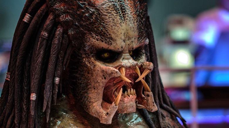 The Predator mouth open