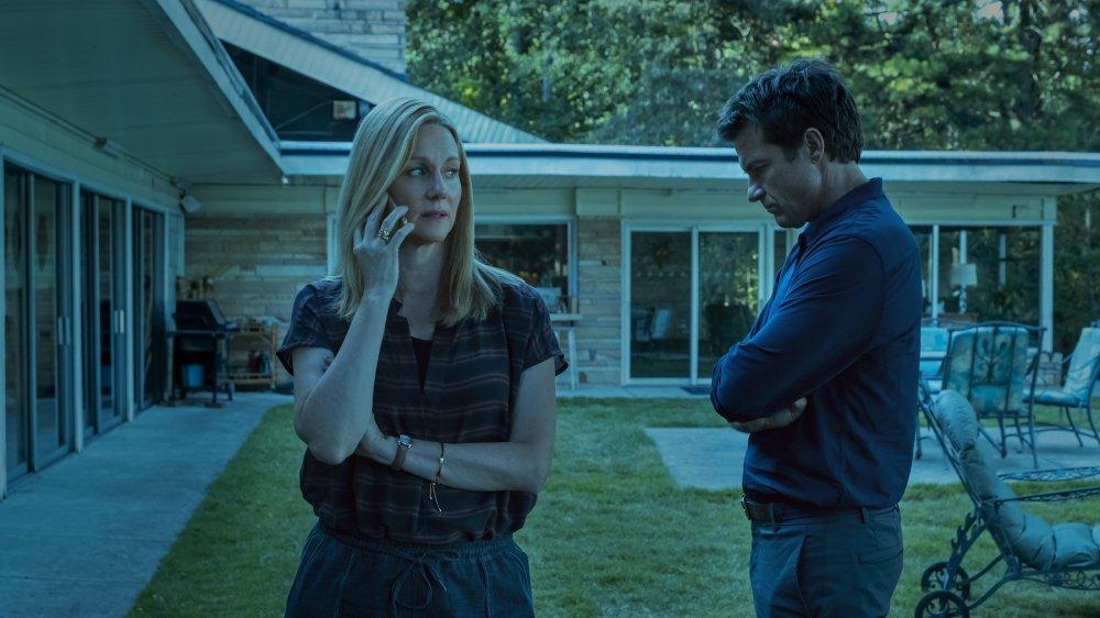 Laura Linney as Wendy Byrde and Jason Bateman as Marty Byrde on Ozark