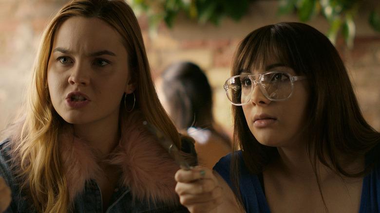 Hannah Marks and Liana Liberato in Banana Split