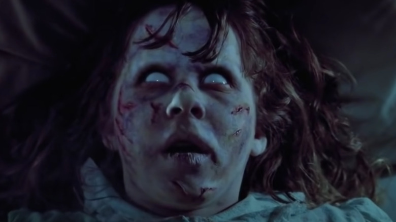 Possessed Regan's bloody face