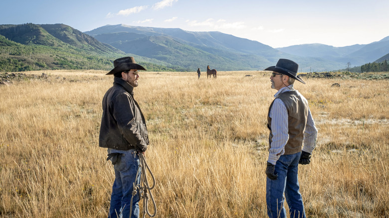 Cole Hauser and Forrie J. Smith on Yellowstone