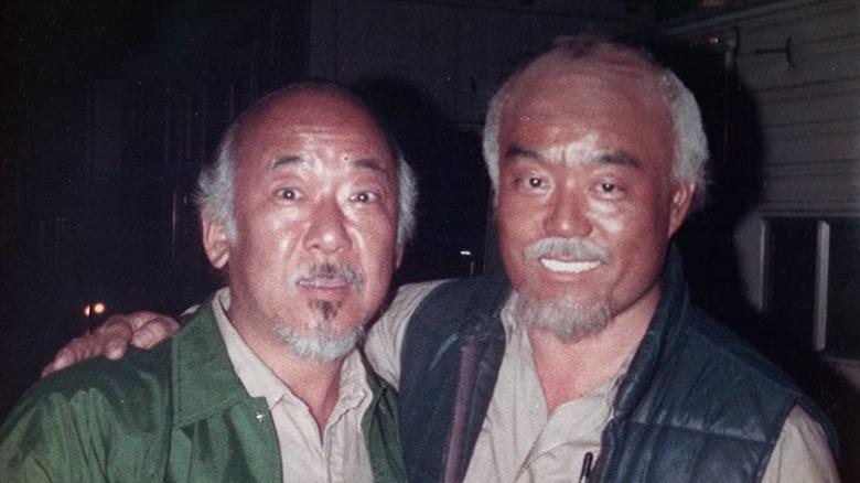 Pat Morita and Fumio Demura from archival photo seen in The Real Miyagi