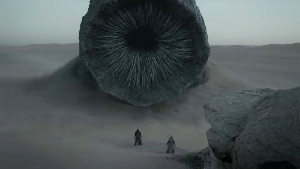 The great sandworm of Arrakis in Denis Villeneuve's Dune