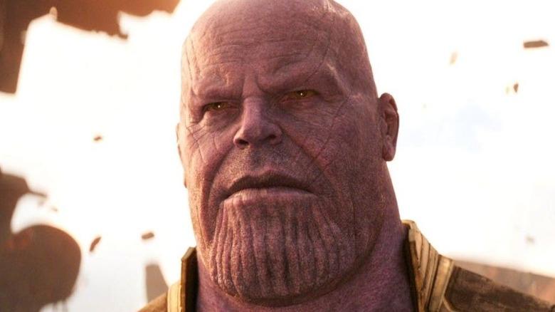Josh Brolin Thanos smiling