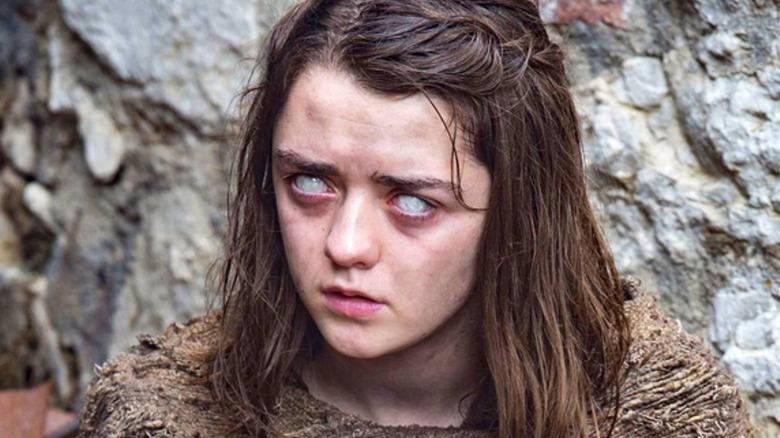 Arya Stark with creepy eyes
