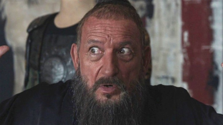 Trevor Slattery looking to his side