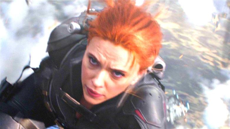 Black Widow in the sky