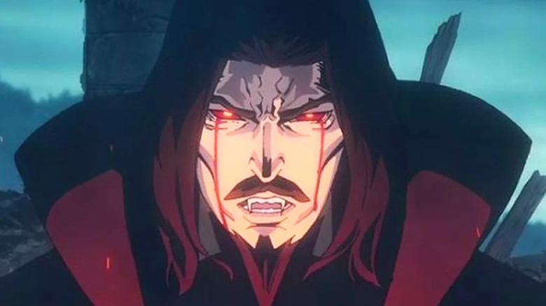 Animated Dracula red eyes glowing